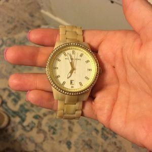 Cream tortoise Michael Kors watch